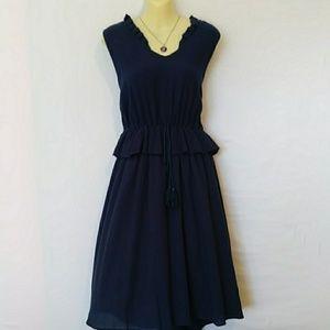 REFORMATION Dress Ruffle Gauze Swing Md